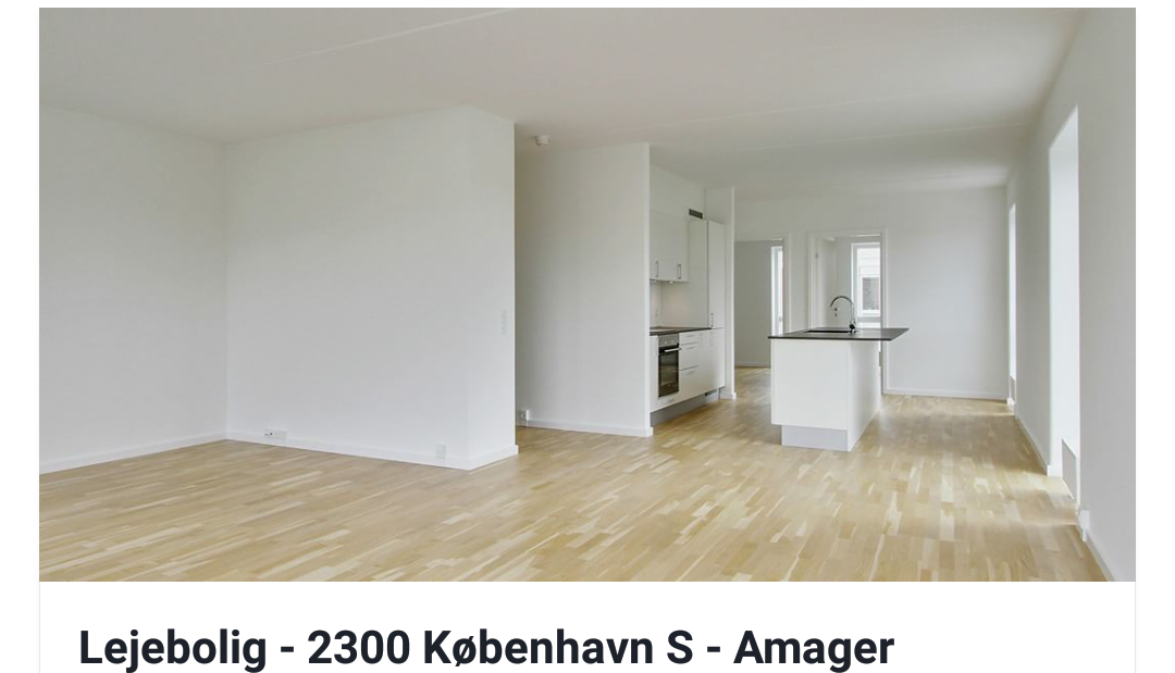 Third Roommate searched for a new apartment on Amager