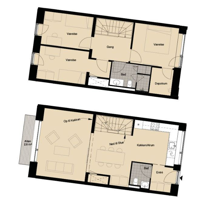 Looking for roomies for bright two-story apartment :)