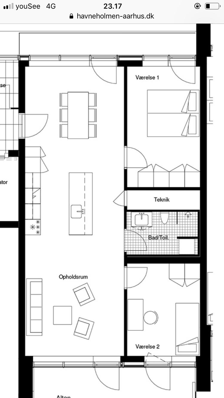Søger roommate til top-lækker lejlighed på Århus Ø, havneholmen
