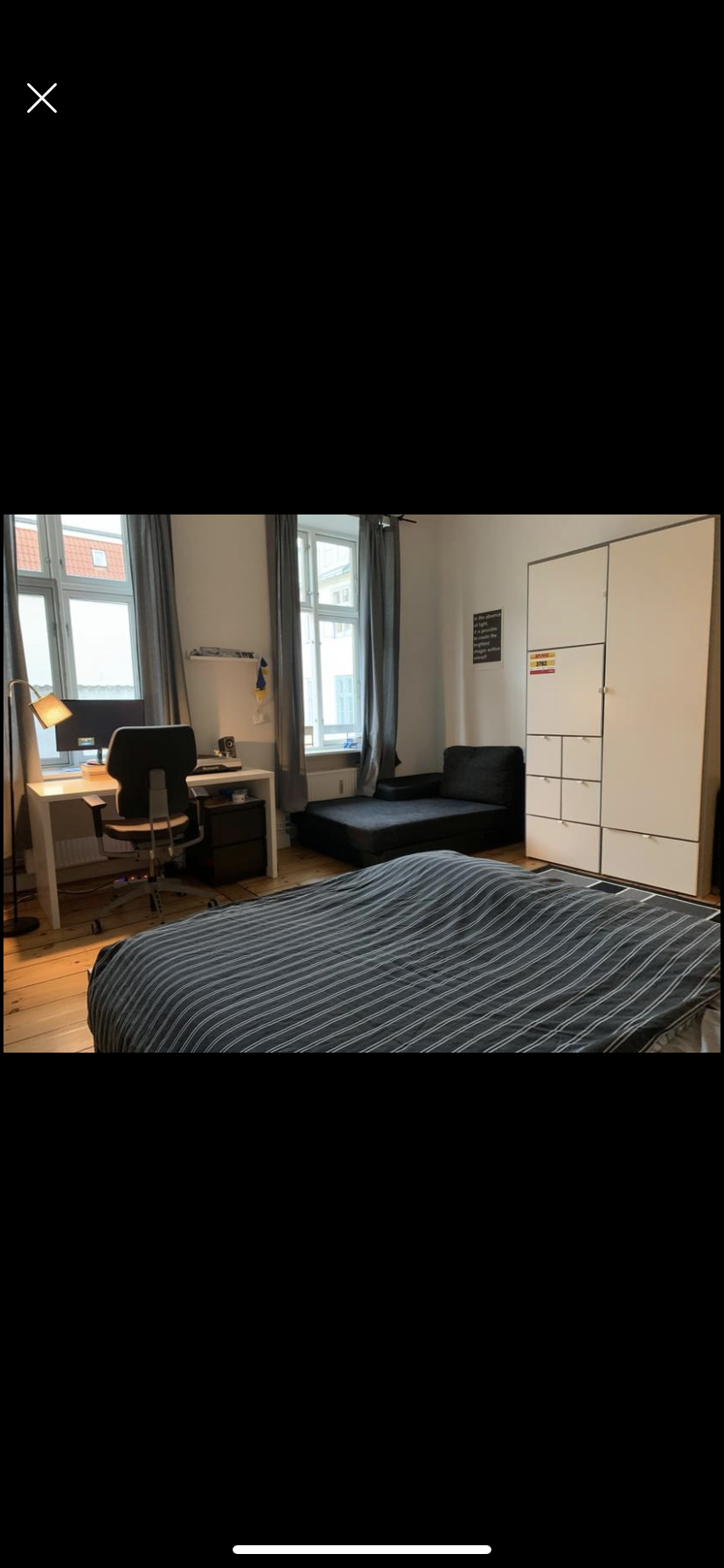 One 20m room in our big appartment 2 minutes walking from nørreport !