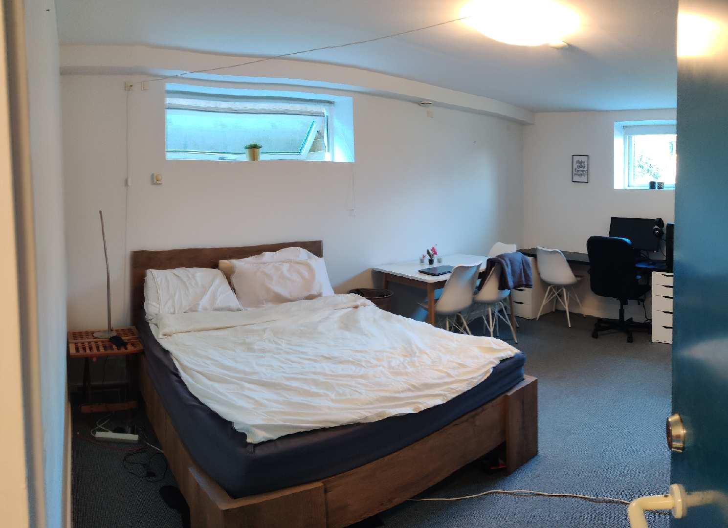 Stort lyst værelse