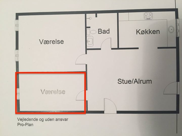 Værelse fremlejes på Fredriksbjerg