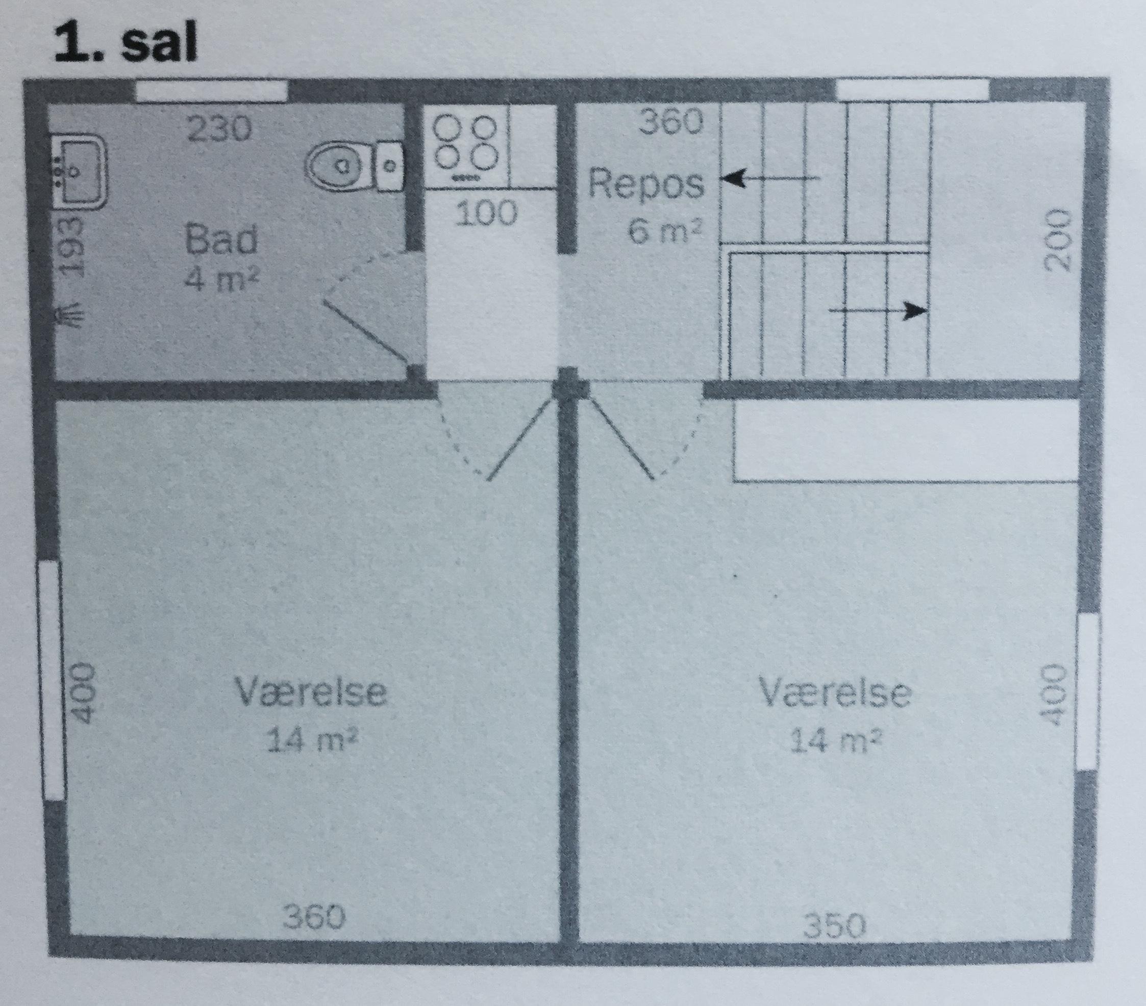 Dejligt lyst værelse på 14 m2 udlejes til rolig studerende