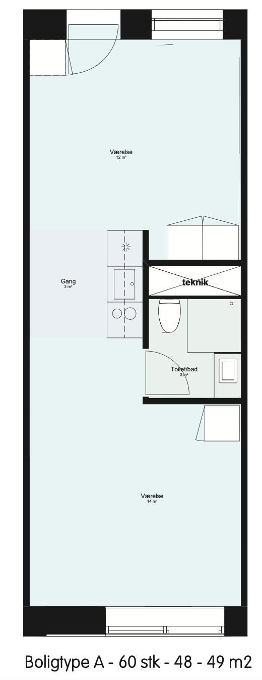 Dejlig 1-værelses lejlighed fremlejes fra 1. oktober