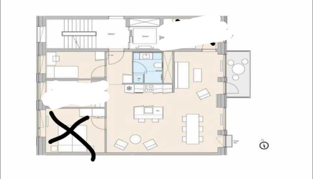 Stort værelse lejes ud i ny lejlighed !