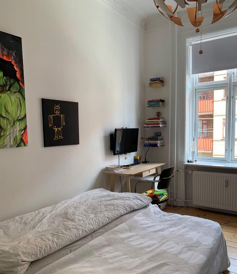 Fantastisk værelse på 17 kvm -  Frederiksberg