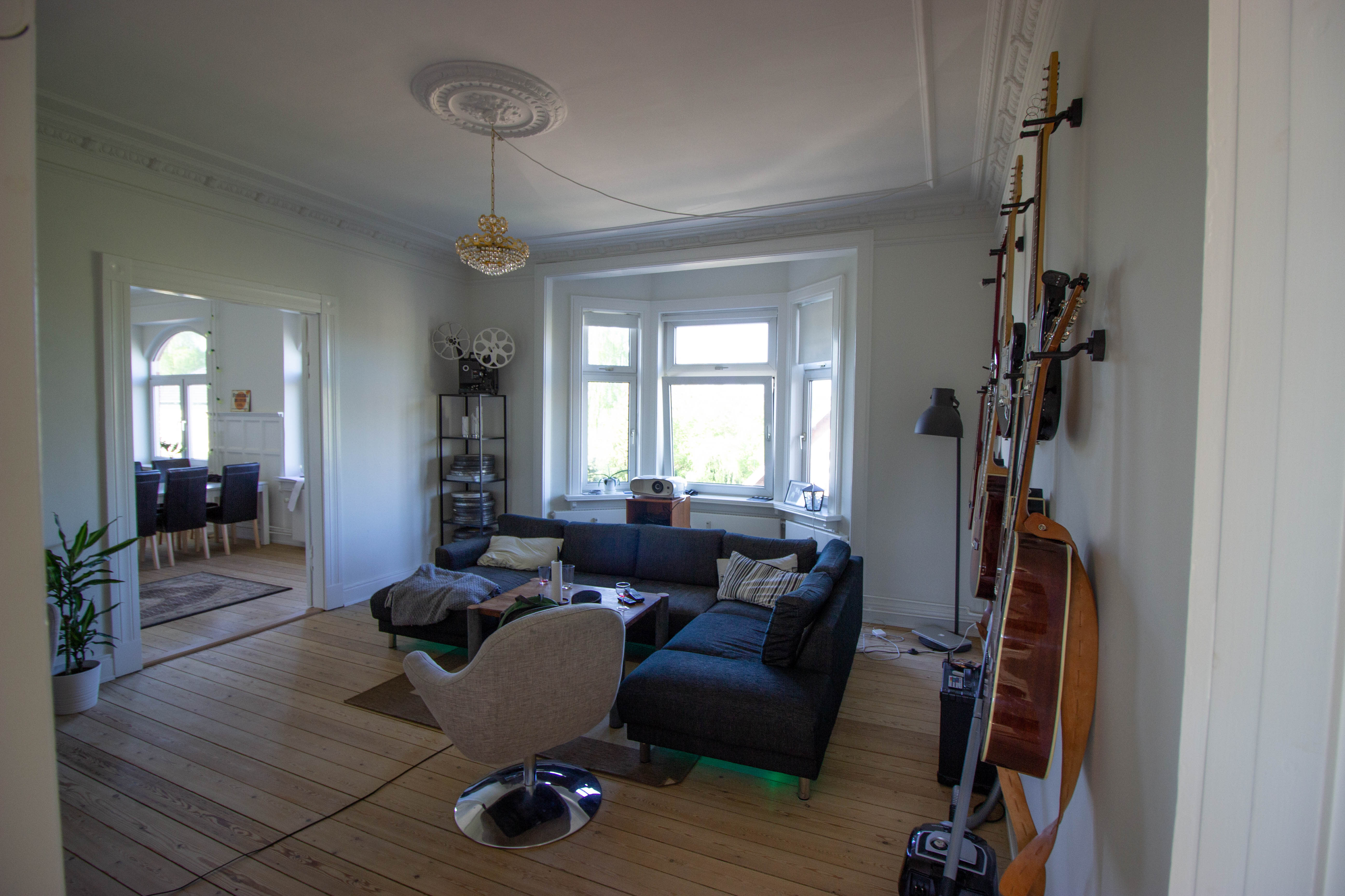 Creative living room in centrally located master bedroom looking for a roommate
