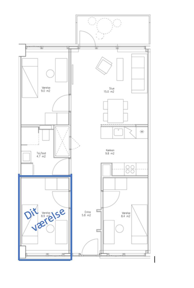 Vi søger en roomie til vores hybel på Sonnesgade 50a midt i Aarhus.