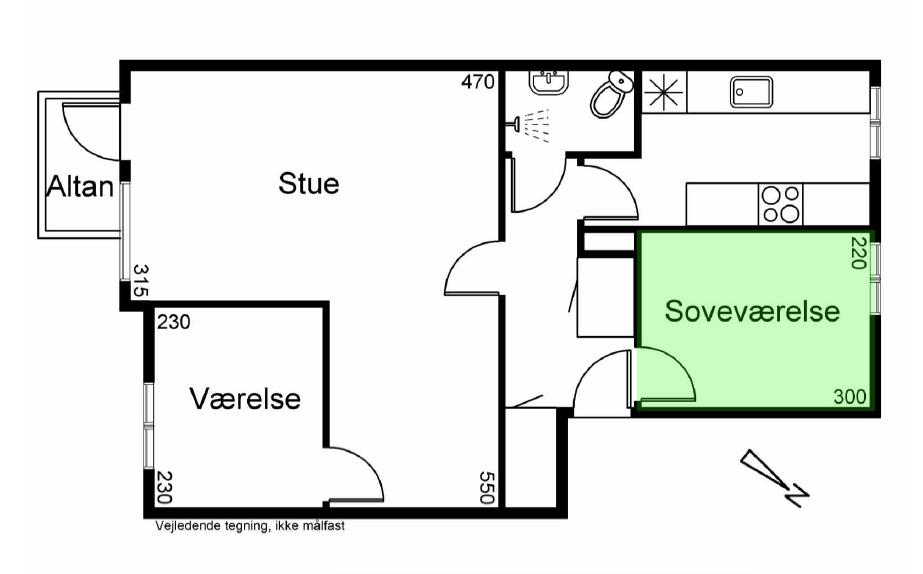 7 kvm værelse centralt på Amager