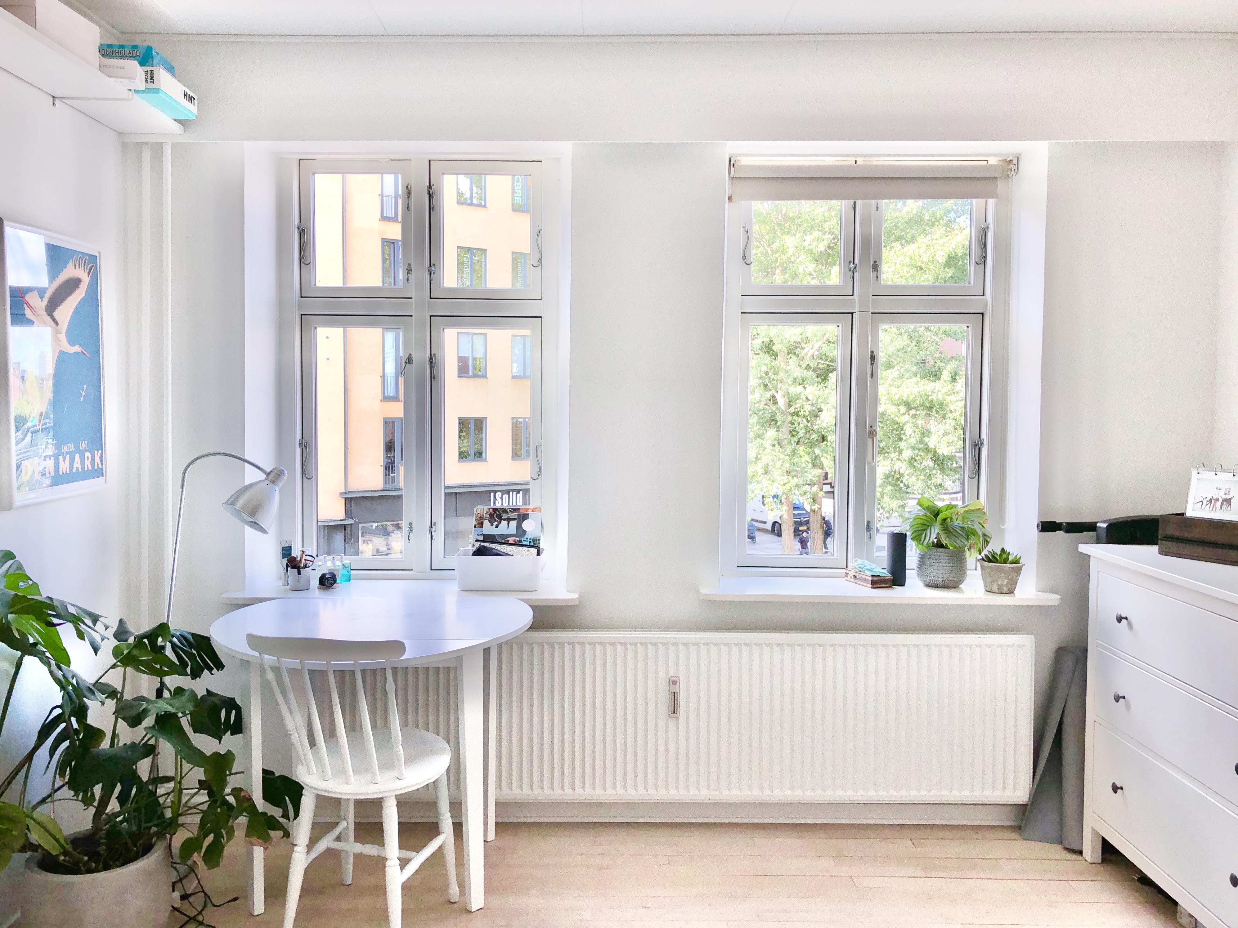 Møbleret værelse til leje på Åboulevarden.