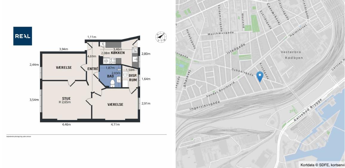 Room for rent in Vesterbro (5000 DKK bills inclusive)