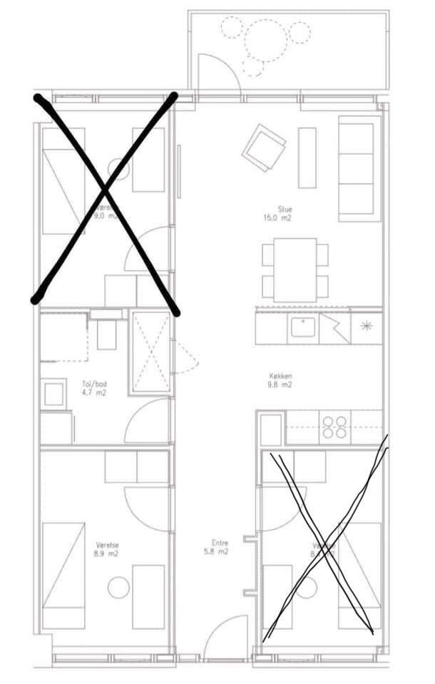 Søger Roomie til 4-værelses lejlighed i Århus C