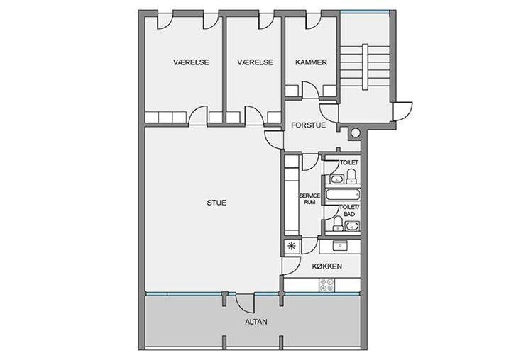 værelse i hyggelig lejlighed udlejes